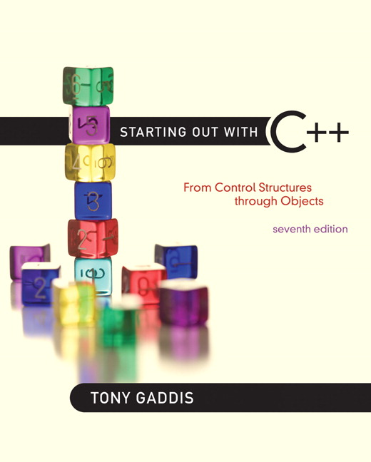 Solution Manual (Complete Download) for   Starting Out with C++: From Control Structures through Objects