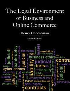 Test Bank (Complete Download) for   The Legal Environment of Business and Online Commerce