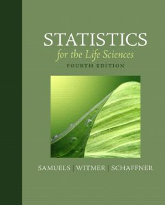 Solution Manual (Complete Download) for   Statistics for the Life Sciences