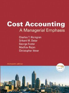 Test Bank (Complete Download) for  Cost Accounting A Managerial Emphasis 13th Edition