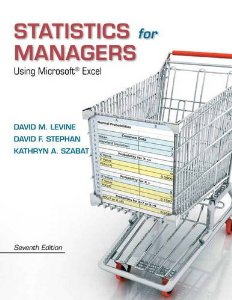 Test Bank (Complete Download) for  Statistics for Managers Using Microsoft Excel 7th Edition Levine