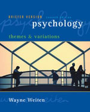 Solution Manual (Complete Download) for   Psychology: Themes and Variations