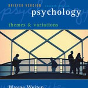 Test Bank (Complete Download) for   Psychology: Themes and Variations