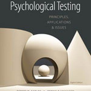 Test Bank (Complete Download) for   Psychological Testing: Principles