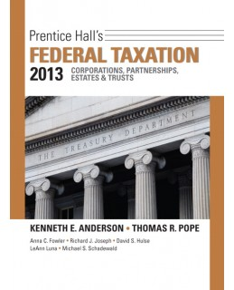 Test Bank (Complete Download) for  Prentice Hall's Federal Taxation 2013: Corporations