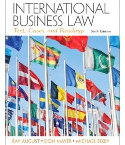 Test Bank (Complete Download) for  International Business Law: Texts