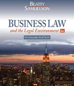 Test Bank (Complete Download) for  Business Law and the Legal Environment