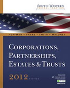Test Bank (Complete Download) for  South Western Federal Taxation 2012 Corporations Partnerships Estates and Trusts