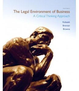 Test Bank (Complete Download) for  The Legal Environment of Business