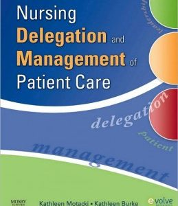 Test Bank (Complete Download) for  Nursing Delegation and Management of Patient Care