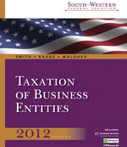 Test Bank (Complete Download) for  South Western Federal Taxation 2012 Taxation of Business Entities