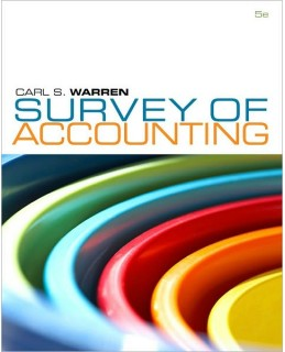 Test Bank (Complete Download) for  Survey of Accounting 5th Edition