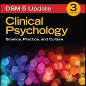Test Bank (Complete Download) for Clinical Psychology Science