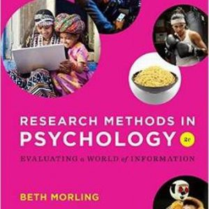 Test Bank (Complete Download) for Research Methods in Psychology: Evaluating a World of Information