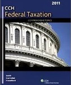 Test Bank (Complete Download) for Federal Taxation: Comprehensive Topics (2011)
