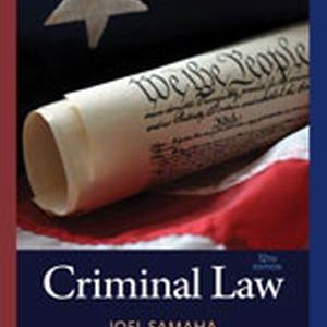 Solution Manual (Complete Download) for Criminal Law
