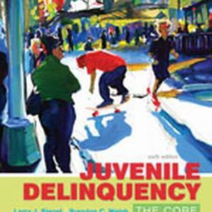 Test Bank (Complete Download) for Juvenile Delinquency: The Core