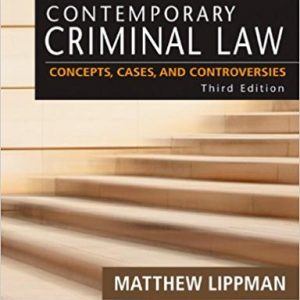 Test Bank (Complete Download) for Contemporary Criminal Law: Concepts