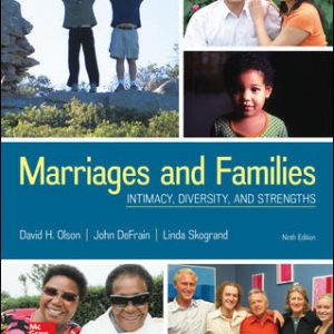 Solution Manual (Complete Download) For Marriages and Families: Intimacy, Diversity, and Strengths 9th Edition By David Olson,John DeFrain,Linda Skogrand,ISBN10: 1259914291 Instantly Downloadable Solution Manual