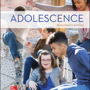 Solution Manual (Complete Download) For Adolescence 17th Edition By John Santrock,ISBN10: 1260058786 Instantly Downloadable Solution Manual