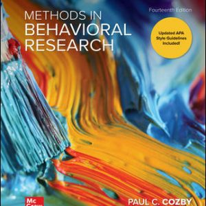 Solution Manual (Complete Download) For Methods in Behavioral Research 14th Edition By Paul Cozby,Scott Bates ,ISBN10: 1260205584 Instantly Downloadable Solution Manual