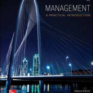 Solution Manual (Complete Download) For Management Looseleaf 8th Edition By Angelo Kinicki, Brian Williams, ISBN 10: 1259732657 Instantly Downloadable Solution Manual