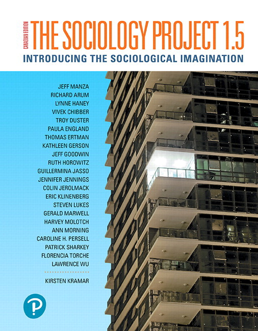 Solution Manual (Complete Download) for Revel for The Sociology Project 1.5: Introducing the Sociological Imagination, Updated First Canadian Edition 2nd Edition By Kirsten Kramar, Jeff Manza, ISBN-10: 0135368154, ISBN-13: 9780135368152 Instantly Downloadable Solution Manual
