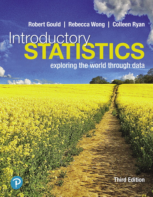 Test Bank (Complete Download) for Introductory Statistics Exploring the World Through Data, 3rd Edition By Robert Gould, Rebecca Wong, Colleen N. Ryan, ISBN-10 0135229995 ISBN-13 9780135229996 Instantly Downloadable Test Bank