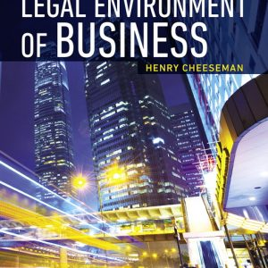 Test Bank (Complete Download) for Legal Environment of Business , 9th Edition By Henry R. Cheeseman,ISBN-13 9780135175712 Instantly Downloadable Test Bank