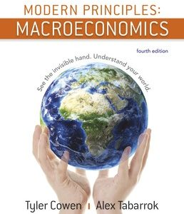 Test Bank (Complete Download) for Modern Principles Macroeconomics 4th Edition ©2018 by Tyler Cowen,Alex Tabarrok, ISBN 9781319172237 Instantly Downloadable Test Bank