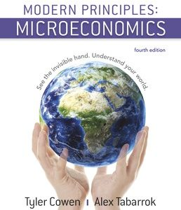 Test Bank (Complete Download) for Modern Principles Microeconomics 4th Edition ©2018 by Tyler Cowen,Alex Tabarrok,ISBN9781319188771 Instantly Downloadable Test Bank