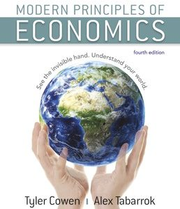 Test Bank (Complete Download) for Modern Principles of Economics 4th Edition ©2018 by Tyler Cowen,Alex Tabarrok,ISBN9781319172695 Instantly Downloadable Test Bank
