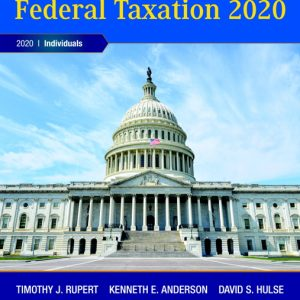 Test Bank (Complete Download) for Pearson's Federal Taxation 2020 Individuals , 33rd Edition By Timothy J. Rupert,Kenneth E. Anderson,David S. Hulse,ISBN-139780135196557 Instantly Downloadable Test Bank
