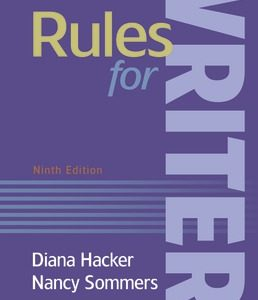Test Bank (Complete Download) for Rules for Writers 9th Edition ©2019 by Diana Hacker,Nancy Sommers, ISBN 9781319177621 Instantly Downloadable Test Bank