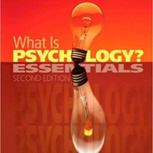 Test Bank (Complete Download) for What is Psychology Essentials, 2nd Edition, Pastorino, ISBN-10: 0495987379 Instantly Downloadable Test Bank