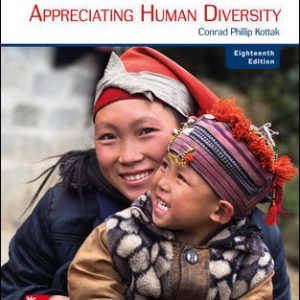 Solution Manual (Complete Download) For Anthropology: Appreciating Human Diversity 18th Edition By Conrad Kottak, ISBN 10: 1260052400 Instantly Downloadable Solution Manual
