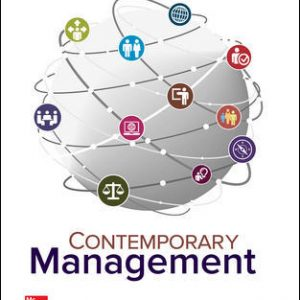 Test Bank (Complete Download) For Contemporary Management 10th Edition By Gareth Jones, Jennifer George, ISBN 10: 1259732665 Instantly Downloadable Test Bank