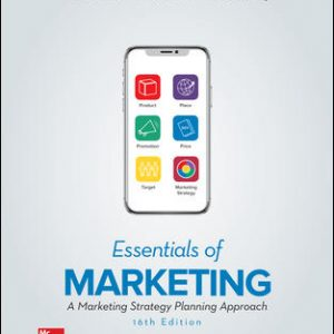 Test Bank (Complete Download) For Essentials of Marketing 16th Edition By William Perreault, Jr., Joseph Cannon, E. Jerome McCarthy, ISBN 10: 126040532X Instantly Downloadable Test Bank