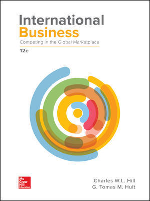 Solution Manual (Complete Download) For International Business: Competing in the Global Marketplace 12th Edition By Charles W. L. Hill, G. Tomas M. Hult, ISBN 10: 1259929442 Instantly Downloadable Solution Manual