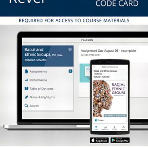 Test Bank (Complete Download) for Revel for Racial and Ethnic Groups 15th Edition By Richard T Schaefer, ISBN-10: 0134736516, ISBN-13: 9780134736518 Instantly Downloadable Test Bank