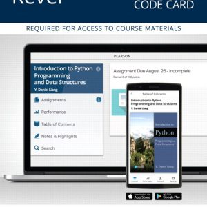 Solution Manual For Revel for Introduction to Python Programming and Data Structures By Liang