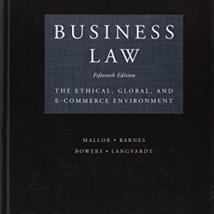 Solution Manual (Downloadable Files) for Business Law: Text and Cases, 15th Edition By W. Clarkson