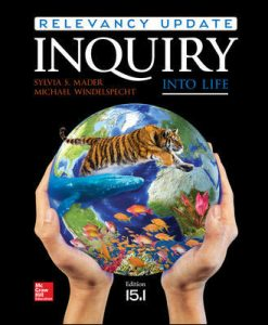 Test Bank (Complete Download) For Inquiry Into Life Relevancy Update 15.1 15th Edition by Mader ISBN: 9781260177671 Instantly Downloadable Test Bank