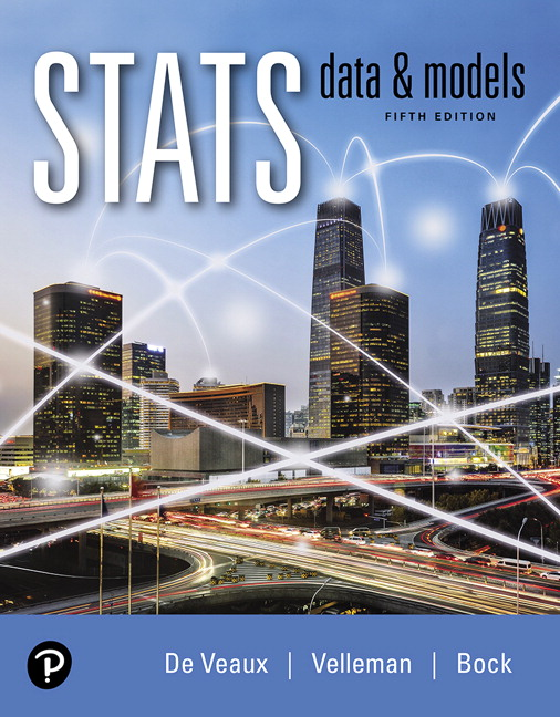 Solution Manual (Complete Download) for Stats: Data and Models Plus MyLab Statistics with Pearson eText 5th Edition By Richard D. De Veaux, Paul F. Velleman, David E. Bock, ISBN-10: 0135256216, ISBN-13: 9780135256213 Instantly Downloadable Solution Manual
