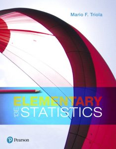 Test Bank (Complete Download) for Elementary Statistics Plus MyLab Statistics with Pearson eText 13th Edition By Mario F. Triola, ISBN-10: 013476370X, ISBN-13: 9780134763705 Instantly Downloadable Test Bank