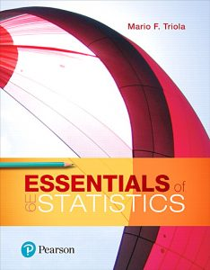Test Bank (Complete Download) for Essentials of Statistics, 6th Edition By Mario F. Triola, ISBN-13:9780134687148 Instantly Downloadable Test Bank