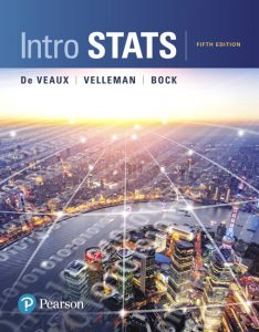 Test Bank (Complete Download) for Intro Stats, 5th Edition By Richard D. De Veaux, Paul F. Velleman, David E. Bock, ISBN-10: 0134210220, ISBN-13: 9780134210223 Instantly Downloadable Test Bank