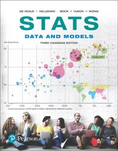 Test Bank (Complete Download) for Stats: Data and Models, Third Canadian Edition Plus MyLab Statistics with Pearson eText 3rd Edition By Richard D. De Veaux, Paul F. Velleman, David E. Bock, Augustin M. Vukov, Augustine Wong, ISBN-10: 0134769163, ISBN-13: 9780134769165 Instantly Downloadable Test Bank